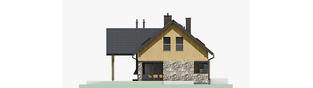 Projekt domu Nikolas - elewacja lewa