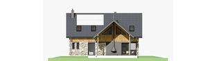 Projekt domu Nikolas - elewacja tylna