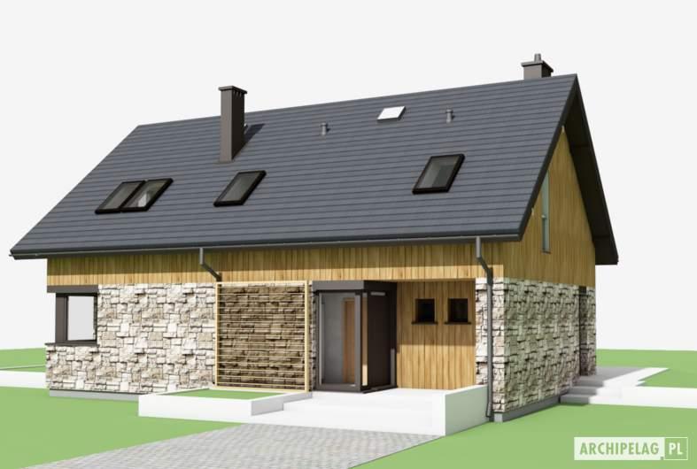 Projekt domu Nikolas - wizualizacja frontowa