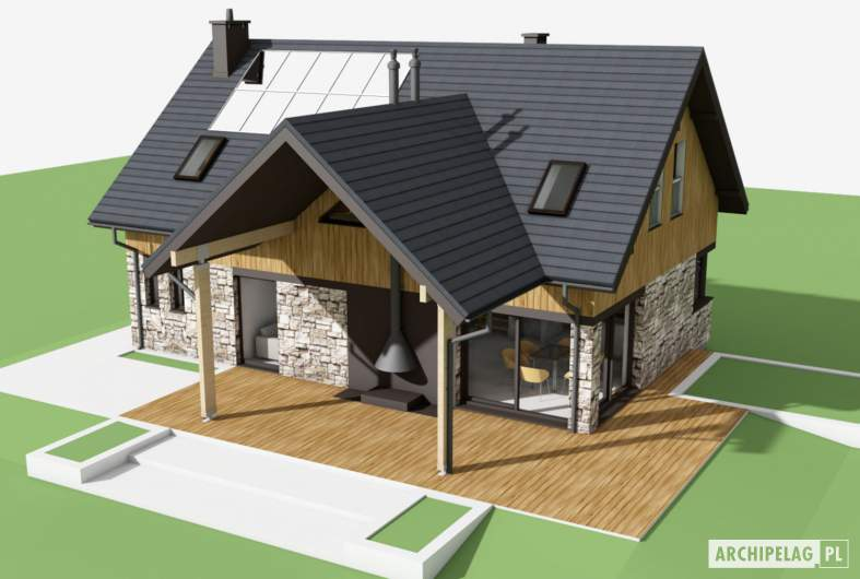 Projekt domu Nikolas - widok z góry