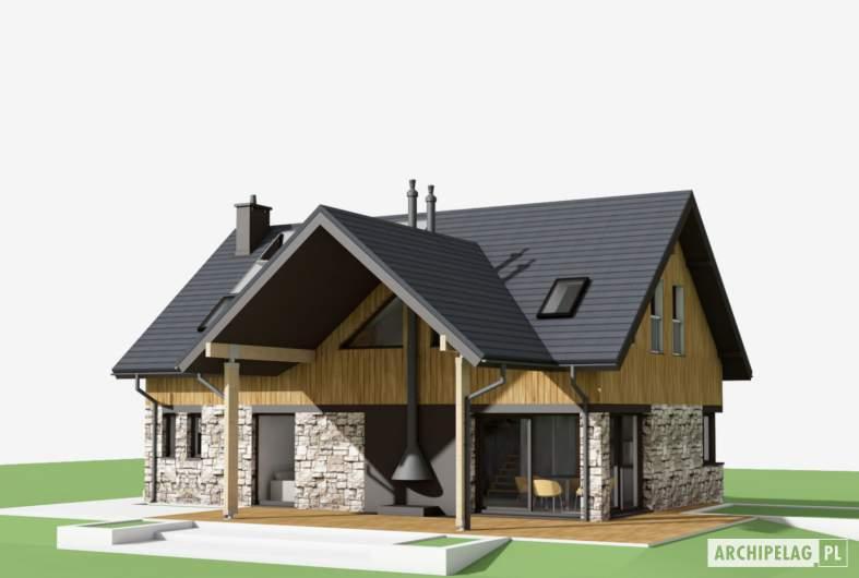 Projekt domu Nikolas - wizualizacja ogrodowa
