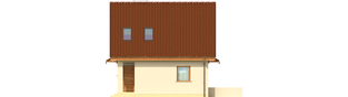 Projekt domu Beatka - elewacja prawa