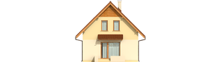 Projekt domu Beatka - elewacja tylna