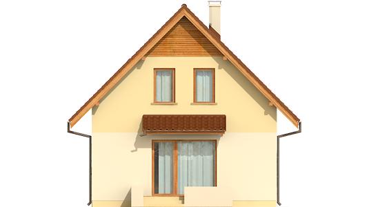 Беатка - Projekty domów ARCHIPELAG - Beatka - elewacja tylna