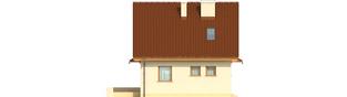Projekt domu Beatka - elewacja lewa