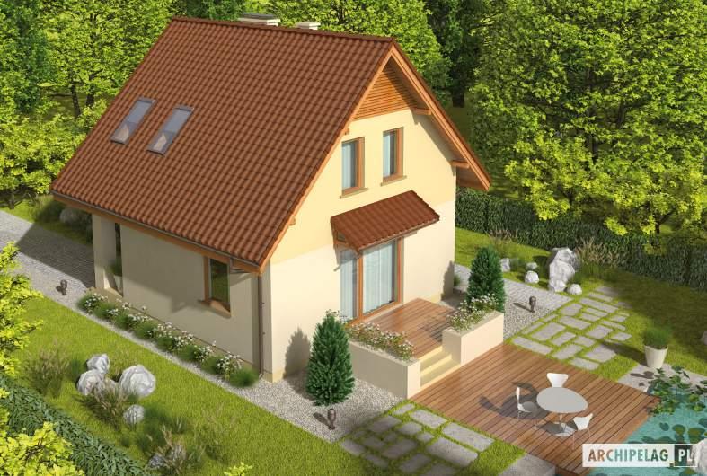 Projekt domu Beatka - Projekty domów ARCHIPELAG - Beatka - widok z góry