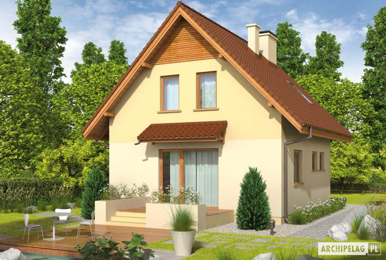 Projekt domu Beatka - Projekty domów ARCHIPELAG - Beatka - wizualizacja ogrodowa