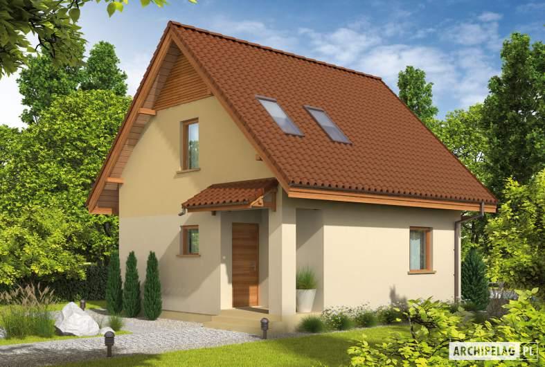 Projekt domu Beatka - Projekty domów ARCHIPELAG - Beatka - wizualizacja frontowa