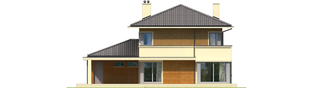 Projekt domu Rodrigo III G1 - elewacja tylna