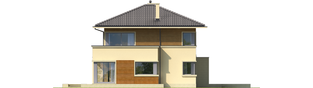 Projekt domu Rodrigo III G1 - elewacja lewa