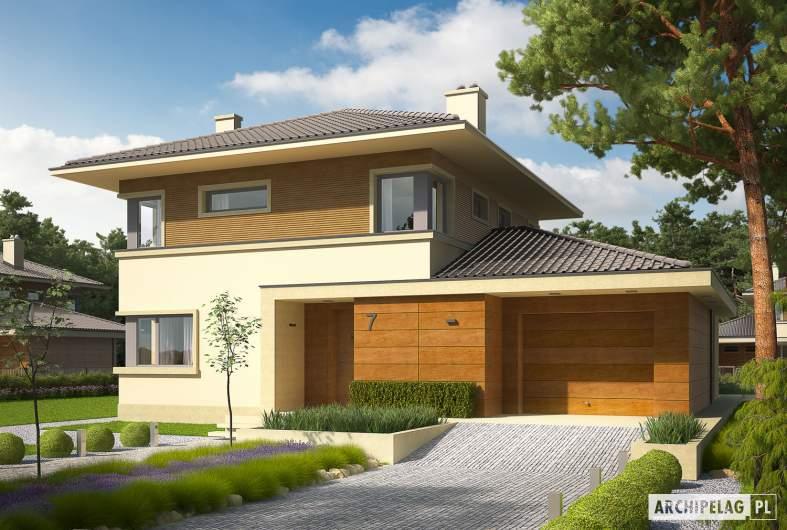 Projekt domu Rodrigo III G1 - wizualizacja frontowa