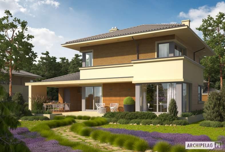 Projekt domu Rodrigo III G1 - wizualizacja ogrodowa
