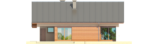 Projekt domu Tori III G1 ECONOMIC (wersja A) - elewacja tylna
