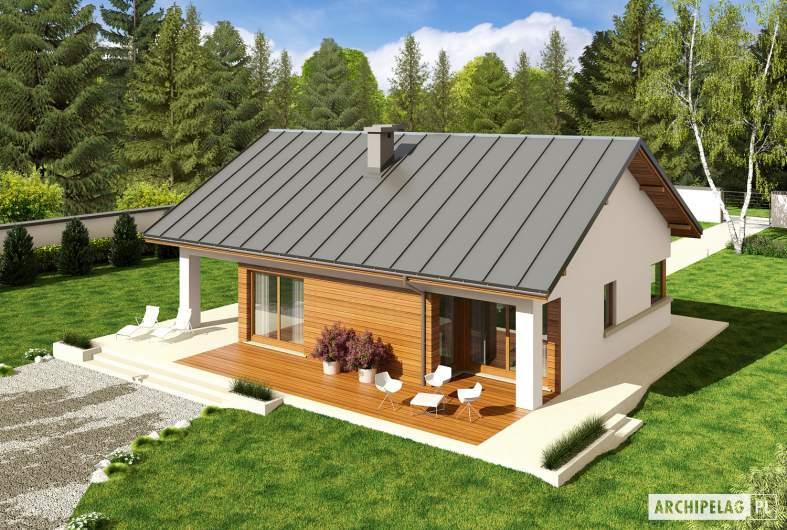 Projekt domu Tori III G1 ECONOMIC (wersja A) - widok z góry