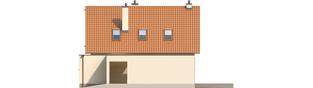 Projekt domu Tiago G1 (wersja B) - elewacja prawa
