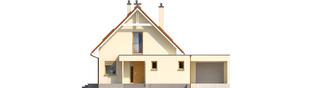 Projekt domu Tiago G1 (wersja B) - elewacja frontowa