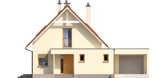Tiago G1 A++ - Projekt domu Tiago G1 (wersja B) - elewacja frontowa