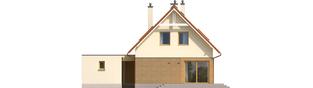 Projekt domu Tiago G1 (wersja B) - elewacja tylna