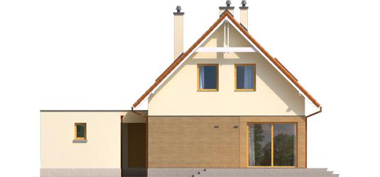 Tiago G1 A++ - Projekt domu Tiago G1 (wersja B) - elewacja tylna
