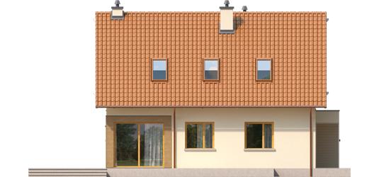 Tiago G1 A++ - Projekt domu Tiago G1 (wersja B) - elewacja lewa