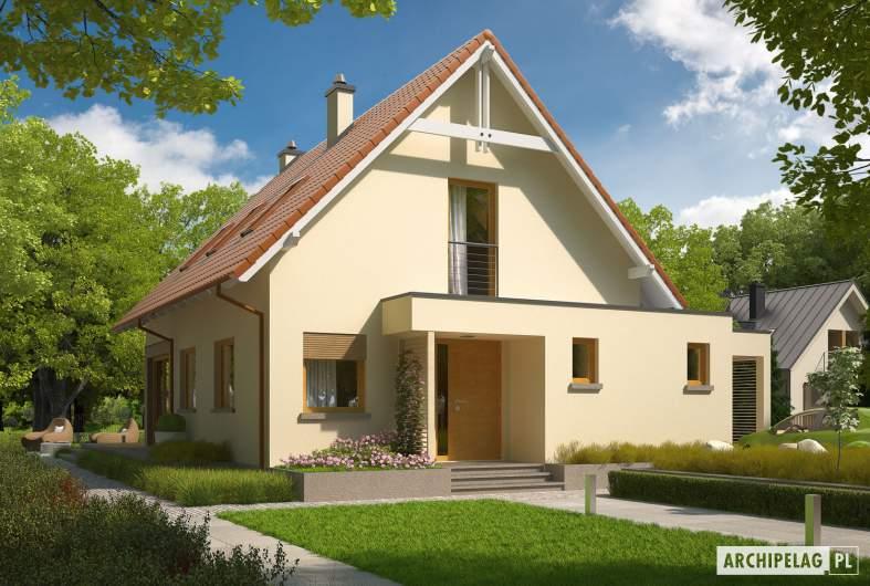 Projekt domu Tiago G1 (wersja B) - wizualizacja frontowa