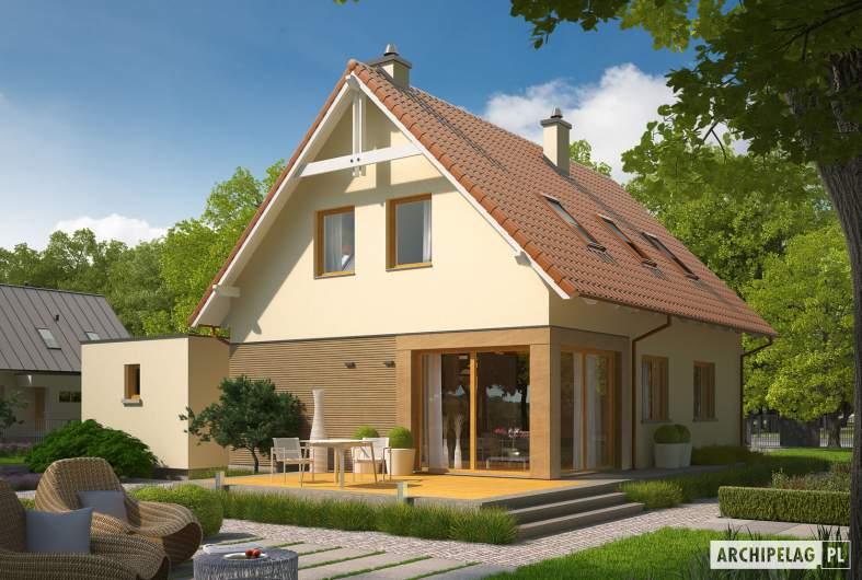 Projekt domu Tiago G1 (wersja B) - wizualizacja ogrodowa