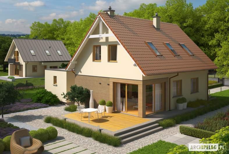 Projekt domu Tiago G1 (wersja B) - widok z góry