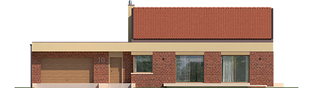 Projekt domu EX 11 G2 (wersja B) soft - elewacja frontowa
