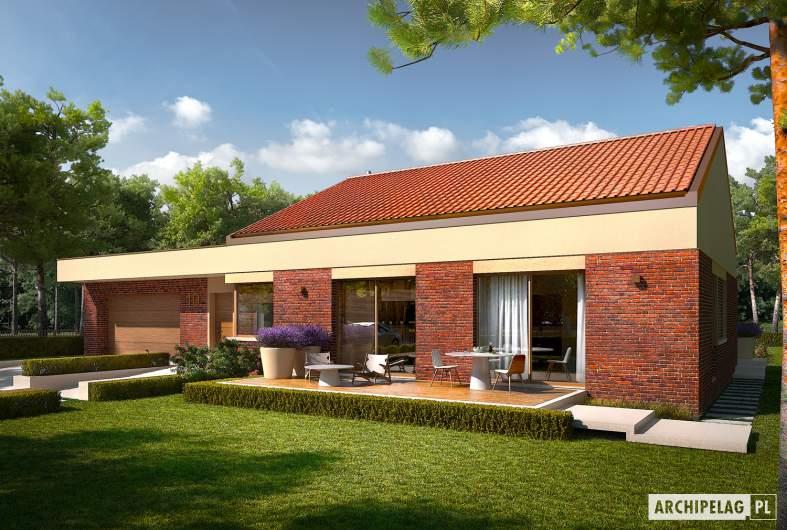 Projekt domu EX 11 G2 (wersja B) soft - wizualizacja frontowa