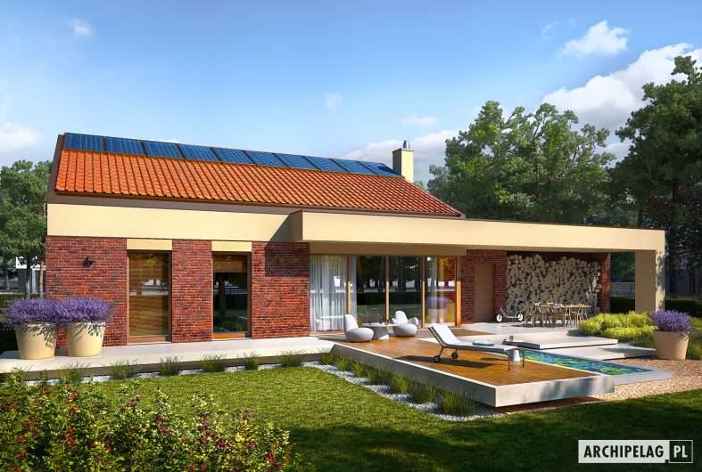Projekt domu EX 11 G2 (wersja B) soft - wizualizacja ogrodowa