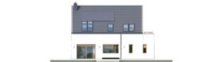 Projekt domu Oskar (z wiatą) ENERGO PLUS - elewacja tylna