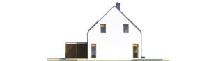 Projekt domu Oskar (z wiatą) ENERGO PLUS - elewacja lewa