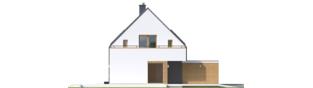 Projekt domu Oskar (z wiatą) ENERGO PLUS - elewacja prawa