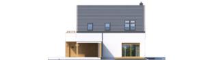 Projekt domu Oskar (z wiatą) ENERGO PLUS - elewacja frontowa