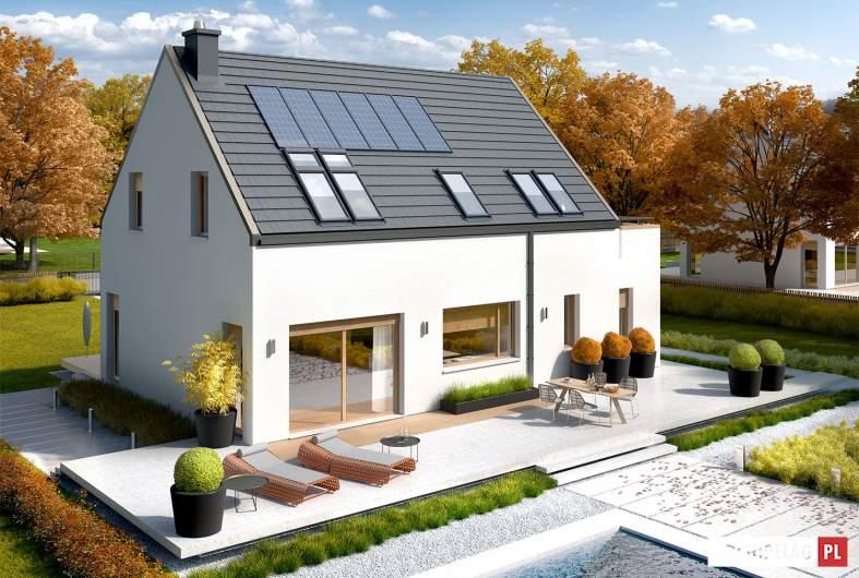 Projekt domu Oskar (z wiatą) ENERGO PLUS - widok z góry