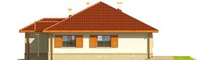 Projekt domu Jana G1 - elewacja tylna