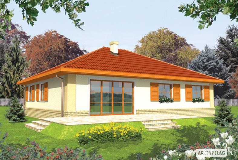 Projekt domu Jana G1 - Projekty domów ARCHIPELAG - Jana G1 - wizualizacja ogrodowa