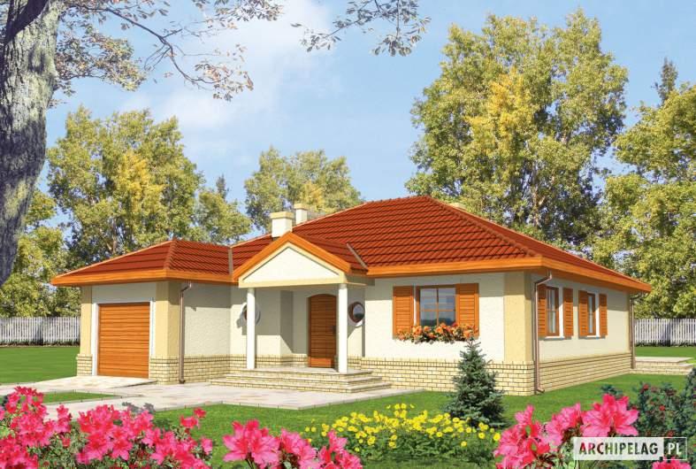 Projekt domu Jana G1 - Projekty domów ARCHIPELAG - Jana G1 - wizualizacja frontowa