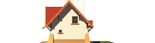 Projekt domu Ada - elewacja prawa
