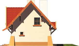 Ada - Projekt domu Ada - elewacja prawa