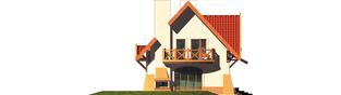 Projekt domu Ada - elewacja lewa