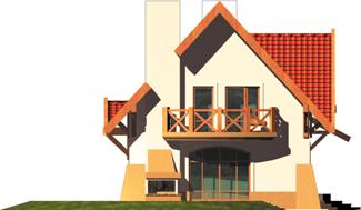 Ada - Projekt domu Ada - elewacja lewa