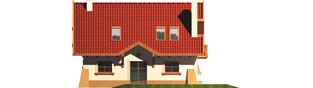 Projekt domu Ada - elewacja tylna