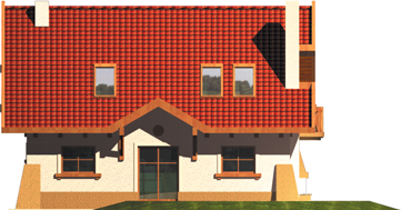 Ada - Projekt domu Ada - elewacja tylna