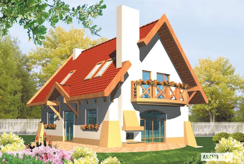 Projekt domu Ada - wizualizacja ogrodowa