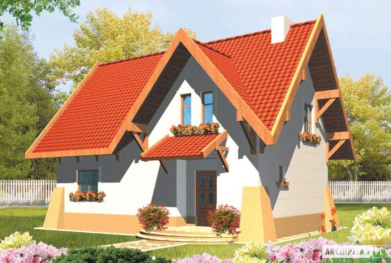 Projekt domu Ada - wizualizacja frontowa