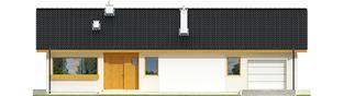 Projekt domu Eryk G1 (30 stopni) - elewacja frontowa