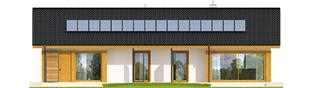 Projekt domu Eryk G1 (30 stopni) - elewacja tylna