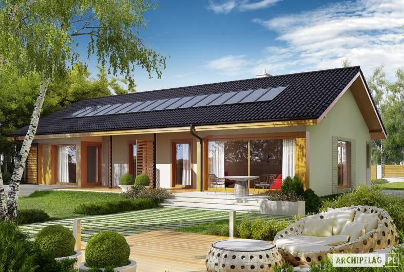 Projekt domu Eryk G1 (30 stopni) - Projekty domów ARCHIPELAG - Eryk G1 (30 stopni) - wizualizacja ogrodowa
