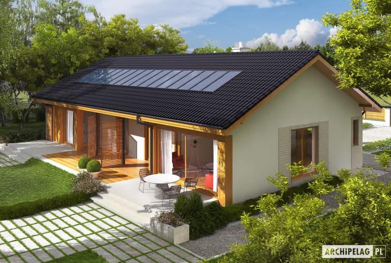 Projekt domu Eryk G1 (30 stopni) - Projekty domów ARCHIPELAG - Eryk G1 (30 stopni) - widok z góry